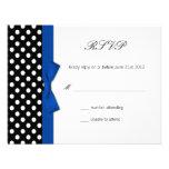 RSVP - tarjeta azul de la respuesta del boda del a Invitaciones Personales