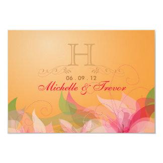 """RSVP - tarjetas de contestación del boda de la Invitación 3.5"""" X 5"""""""