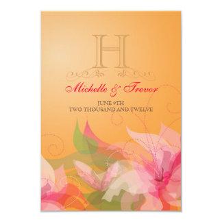 """RSVP - tarjetas de contestación florales del Invitación 3.5"""" X 5"""""""