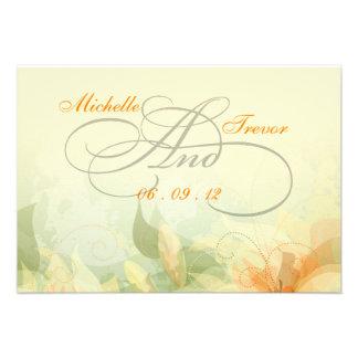 RSVP - tarjetas florales de lujo de la respuesta d Invitacion Personalizada