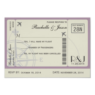 RSVP Ticket Airlines Card
