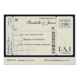 RSVP Ticket Airlines Personalized Invite