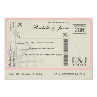 RSVP Ticket Airlines Custom Announcements