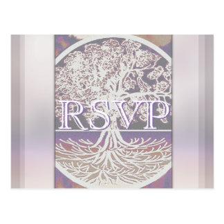 RSVP   Tree of Life Postcard