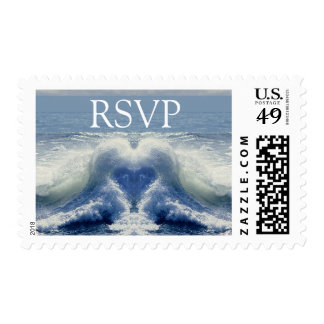 RSVP Tropical Theme Wedding Stamps