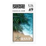 RSVP Tropical Wedding Postage Stamp