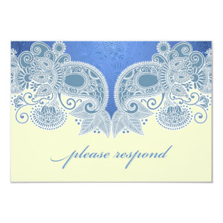 "RSVP Victorian Wedding Card with Food Option 3.5"" X 5"" Invitation Card"