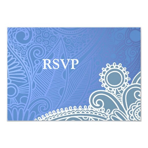 RSVP Victorian Wedding Card with Food Option Custom Announcements