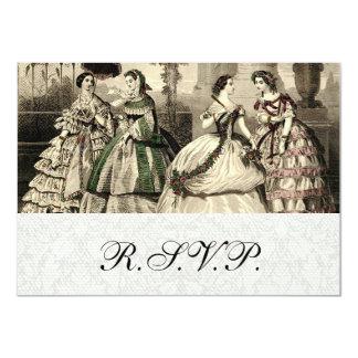 RSVP vintage shower bridal wedding 4.5x6.25 Paper Invitation Card