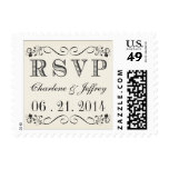 RSVP Vintage Typography Wedding Postage