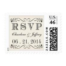 RSVP Vintage Typography Wedding Postage