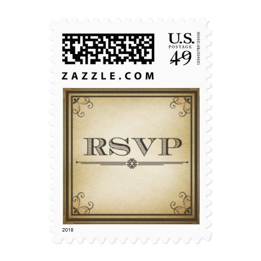 RSVP  Vintage Wedding Stamp
