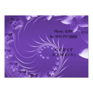 RSVP - Violet Abstract Flowers Card