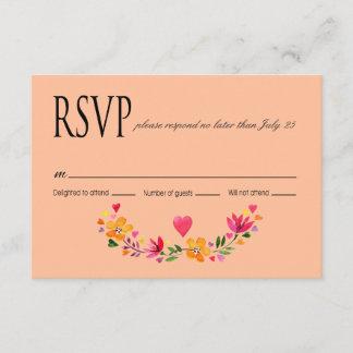 RSVP Watercolor Flowers   peach