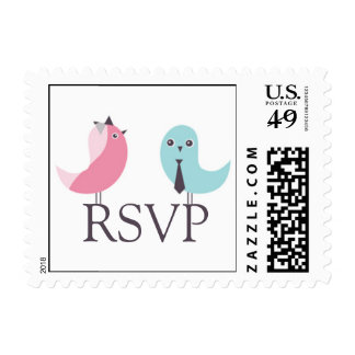RSVP Wedding Birds Small Postage