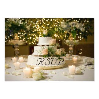 RSVP--Wedding Cake Card