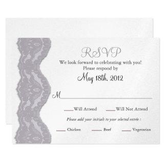 RSVP Wedding Card, Lace Card