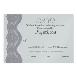 RSVP Wedding Card, Lace Custom Announcements