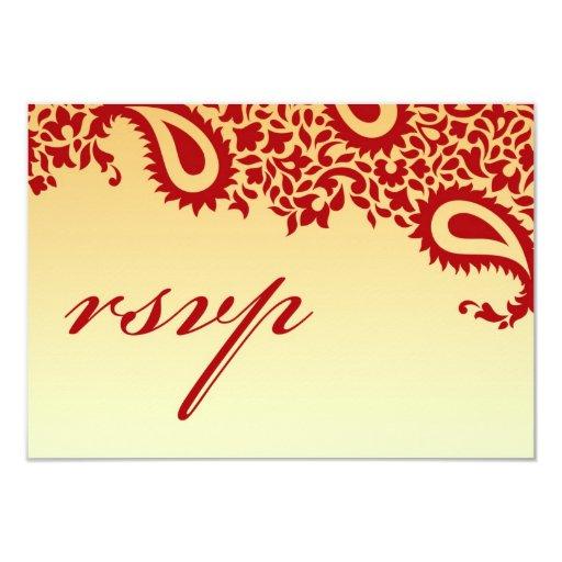 "RSVP Wedding Card with Food Option 3.5"" X 5"" Invitation Card"