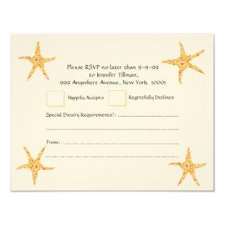 RSVP Wedding Citrus Orange Starfish Invitation