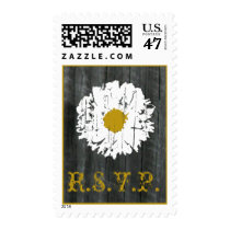 RSVP Wedding - Daisy & Barnwood Postage