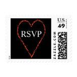 RSVP Wedding Heart Postage