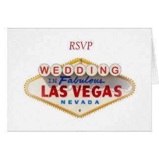 RSVP WEDDING In Fabulous Las Vegas Card