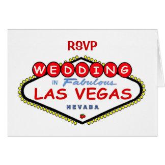"""RSVP"" Wedding in Las Vegas Card"