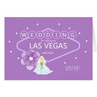RSVP Wedding In Las Vegas Card
