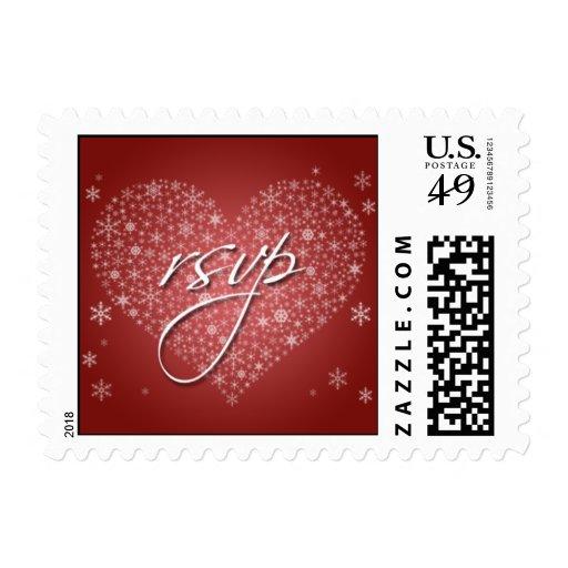 rsvp wedding invitation postage stamp zazzle