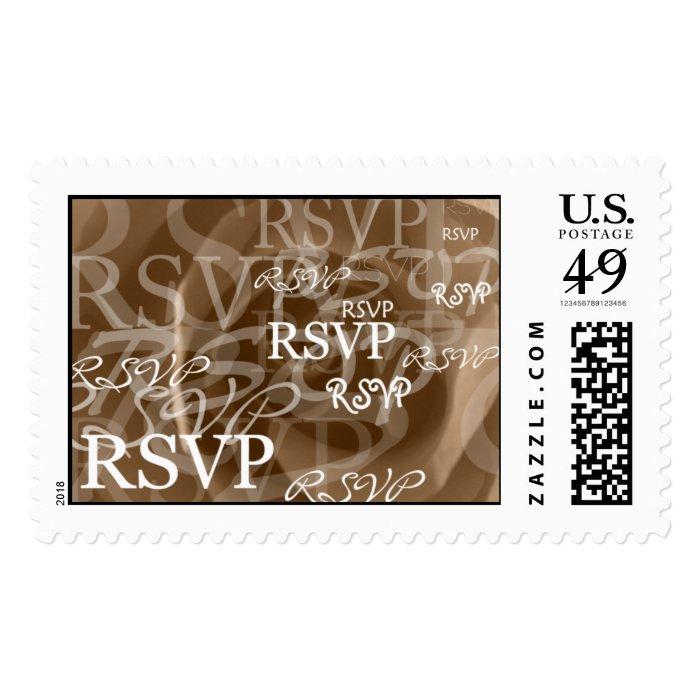 RSVP Wedding Invitation Rose Photo Background RSVP Postage