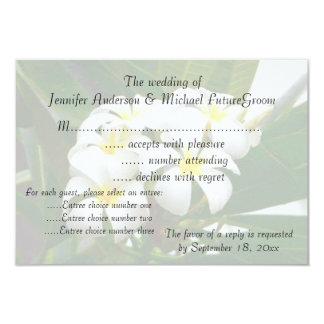 RSVP Wedding Invite Hawaiian Plumeria