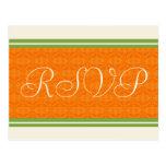 RSVP Wedding Orange Citrus Postcards