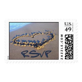 RSVP Wedding Postage Stamps