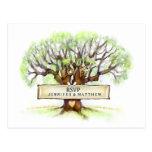 RSVP Wedding Postcard - The Love Tree