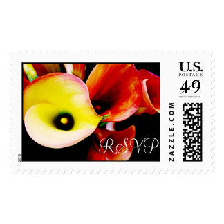 RSVP Wedding Red Cala Lilly Postage