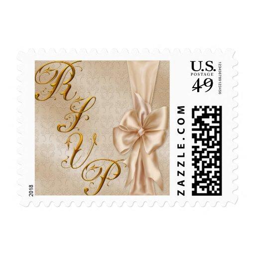 RSVP Wedding Satin Postage Stamps