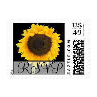 RSVP Wedding Sunflower Postage