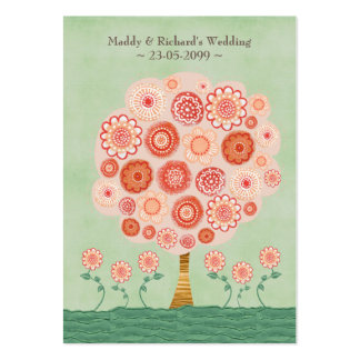 RSVP Wedding Tangerine Dream Tree Flat Cards Large Business Card
