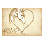"RSVP Western Wedding invitation 3.5"" X 5"" Invitation Card"