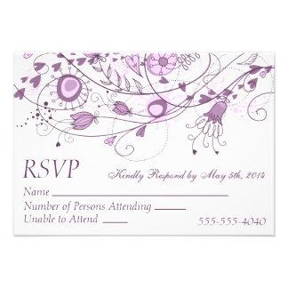 RSVP - Whimsical Lavender Wedding 1 Personalized Invitation