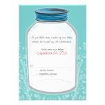 RSVP Whimsy Mason Jar Wedding Custom Announcement