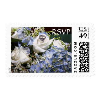 RSVP White Roses and Hydrangeas Stamps