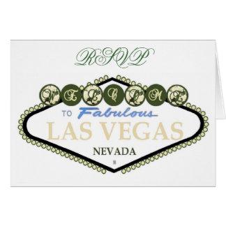 RSVP White Roses Las Vegas Card