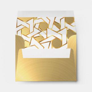 RSVP White Star of David Gold Envelope