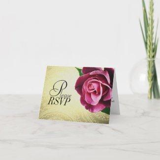 RSVP Wine Colored Rose Card card