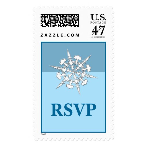 Rsvp winter wedding postage stamp zazzle for Wedding rsvp cards stamps