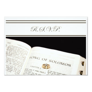 RSVP  with Bible and rings 3.5x5 Paper Invitation Card