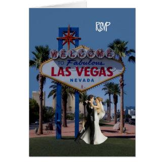 RSVP with Bride & Groom Las Vegas Card