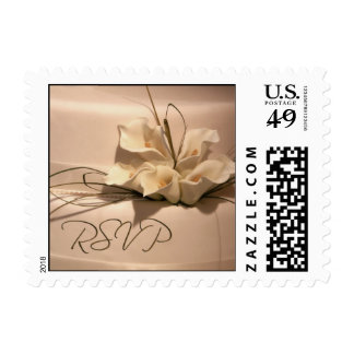 RSVP with calla lilies Postage